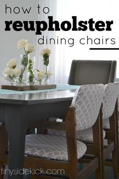 How to Reupholster Chairs- You are going to want to start hunting craigslist after reading this post! She didn't know what she was doing, but has the steps to help you figure out how to reupholster chairs too and the outcome is stunning!