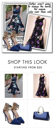 """""""dress"""" by fatimka-becirovic ❤ liked on Polyvore featuring vintage and dress"""