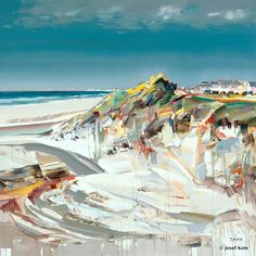 Stone Beach Josef Kote - The juiciness of his paintings is amazing ... almost as if you prick it with the pin, it will bleed.