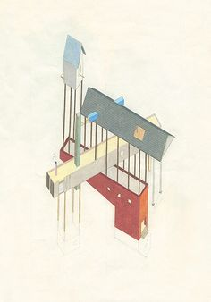 Architectural drawings by Tom Ngo, on Creative Journal: a showcase of inspiring design, art, architecture and photography. Architecture Drawings, School Architecture, Architecture Design, Illustrations, Illustration Art, Conceptual Drawing, Image 3d, Design Your Dream House, Planer