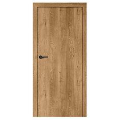 Skrzydło drzwiowe Smart bez muf kolor Akacja Miodowa - Drzwi i skrzydła drzwiowe - Drzwi Wewnętrzne - [D] - Wnętrza VOX Concrete Wood, Tall Cabinet Storage, Brick, Art Deco, Architecture, House, Furniture, Interior Doors, Home Decor