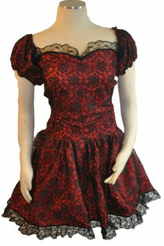 punk goth dress | punk goth lace dress punk gothic sytle dress with ruffled sleeves has ...