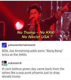 Green Day | I already reblogged this on tumblr but what the hell