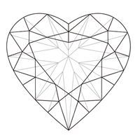 Image result for heart shaped faceted gem colored pencil drawing