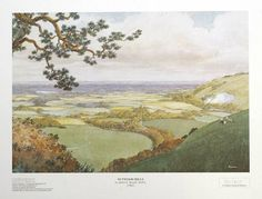 Nutwood Hills from the 1962 Rupert Annual endpapers published by Hawk 1997 in a Limited Edition of 850.