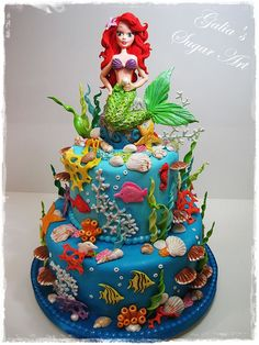 Sea cake — Birthday Cakes mermaid
