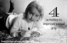 4 activities to improve pencil grip