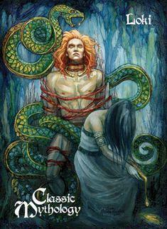 Loki on vikings-and-more - DeviantArt Loki Fan Art, Loki Y Sigyn, Loki Laufeyson, Loki Thor, Pagan Gods, Norse Pagan, Norse Goddess, Loki Norse Mythology, Symbole Viking