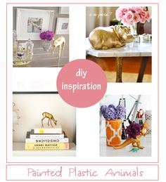 Painted+Plastic+Animals:+DIY+Inspiration+for+All+Sorts+of+Celebrations!