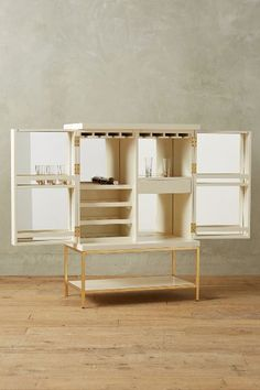 Anthropologie Lacquered Bar Cabinet