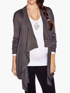 Pin for Later: 50 Great Additions to Your Maternity Wardrobe — All Under $50!  Thyme Maternity Zip-Up Cardigan ($40, originally $55)