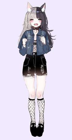Anime art girl kawaii catgirl Ideas for 2019 art 794674296731891091 Anime Girl Neko, Art Anime Fille, Chica Gato Neko Anime, Chica Anime Manga, Anime Art Girl, Anime Girls, Cute Neko Girl, Kawaii Neko Girl, Neko Neko
