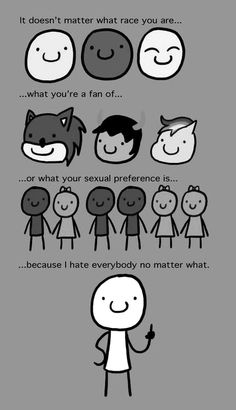 Lol I don't hate everybody I just thought this was funny :-D