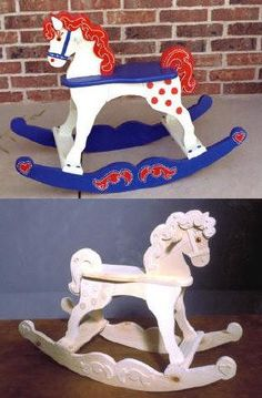 04-fs-110 - Rocking Horse Woodworking Plan. - Woodworkersworkshop® Online Store