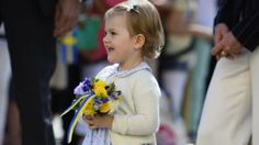 Princess Estelle, Duchess of Ostergotland with her parents Crown Princess Victoria and Prince Daniel of Sweden, opened a fairytale lane in the Duchy's park May 2014 Princess Estelle, Crown Princess Victoria, Swedish Royalty, Prince Daniel, Fairytale, Sweden, Royals, Parents, Flower Girl Dresses