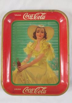 a5fe4caa06bef Coca Cola Coke Advertising Trays and Signs - Antique Vintage and ...