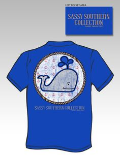 Sassy Frass Funny Preppy Whale Anchor Girlie Bright T Shirt