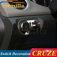 Headlight Inside Control Panel Stainless Steel Sticker Case for Chevrolet Cruze Opel Malibu For Excelle New Regal Encore