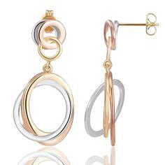 Tri-Color Earrings