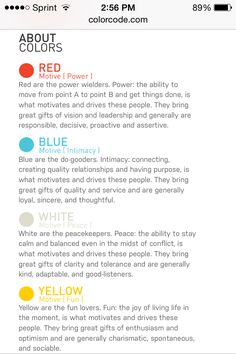 True Colors Personality Assessment Pinteres