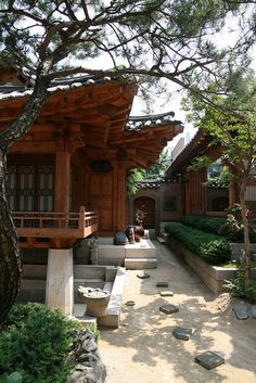 Hanok by Paul Matthews in Korea - I like the way the outdoors weaves between the buildings. #architecture #garden