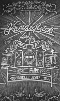Kreide - Kreideglück - Ein Unikat in Kalk 60x100cm - ein Designerstück von kreideglueck bei DaWanda