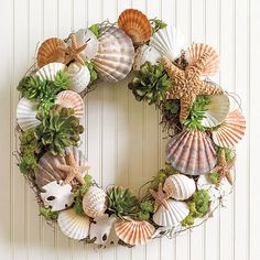 Big Sur Shell Wreath | Gump's