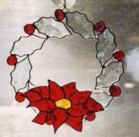 Wreath  Christmas Wreath  Beveled Glass Wreath  by glassbypat, $50.00