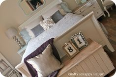 like the nightstands, bed frame, chest, decor...