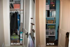 Small Hall Closet Storage Ideas Picture