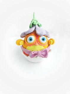 Crochet bird chick toy chicken in eggshell  gift for bird lovers cute funny birds tiny chick figure handmade animal farm birdie desk toy #crocheteastertoy #amigurumichicken #crochetchick #easterchick #amigurumibird #amigurumichicktoy #chickineggshell #chickwitheggshell #chickenloversgift #ooakchicktoy #giftforbirdlovers #chickwithegg #boybabyshower Crochet Birds, Easter Crochet, Crochet Animals, Crochet Toys, Chicken Toys, Desk Toys, Funny Birds, Bird Toys, Eggshell