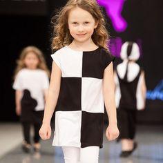 Girls Dress Summer Sleeveless Princess Dress For Girls Fashion Show Black White Plaid Girls Dresses Children Kids Elsa Dress #Affiliate