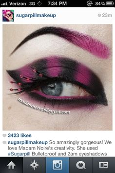 Cheshire Cat eyeshadow Now if I could just do this and do it well I would so do it.