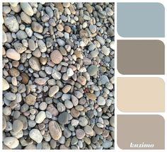 River rock -- natural neutrals. Good guide for exterior colors