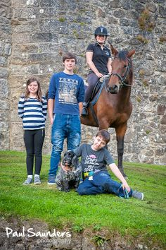 Four children, a dog and a horse make up this Family Portrait taken at Mugdock, Glasgow
