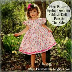 Pickled Okra by Charlie: Free Pattern: Spring Party Dress, Part 2: The Skirt