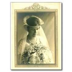 Shop Vintage Wedding A Bride Postcard created by Samsattic. Personalize it with photos & text or purchase as is! Vintage Wedding Photos, Vintage Bridal, Vintage Images, Wedding Pictures, Vintage Weddings, Vintage Photographs, Wedding Bride, Wedding Day, Wedding Gowns