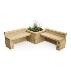 1 875 x 1 875 x 0 is part of garden bench diy this corner planter bench design is great for filling in that gap in your garden using woodblocx is easy as there is no heavy lifting which mean gardendesign outdoor bench makeover Long Planter, Planter Bench, Diy Bench, Planter Boxes, Diy Garden Furniture, Diy Outdoor Furniture, Furniture Ideas, Fairy Furniture, Bench Furniture