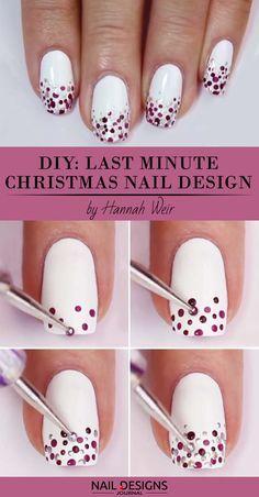 Diy christmas nail art 50 christmas nail designs you can do last minute christmas nail art solutioingenieria Choice Image