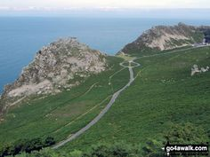 Walk Picture/View: Castle Rock and Rugged Jack from The Danes or Valley of Rocks near Lynton in Exmoor, Devon, England by Derek Lacey (7)