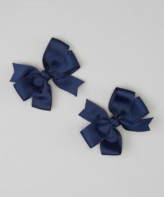 Loving this Navy Cartwheel Bow Clip - Set of Two on #zulily! #zulilyfinds http://www.zulily.com/invite/kcrim608