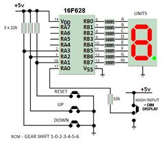 Car Gears up/down Counter Electronics Mini Projects, Electronic Circuit Projects, Electronics Components, Electronic Engineering, Electronics Gadgets, Led Arduino, Electronic Technician, Pic Microcontroller, Arduino Projects