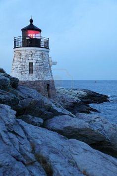 Lighthouse In Newport, Rhode Island