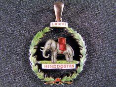 19th Century Silver Gilt Enamel Pendant Hindoostan 76th Regiment of Foot, £195
