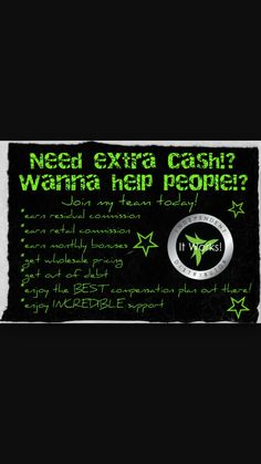 It Works, really works! If you're interested in earning EXTRA cash, ALL NATURAL INGREDIENTS, helping people,  growing your nails/hair, loosing weight, maintaining weight, being apart of and leading a team, gaining New friendships and being apart of a top fortune 500 company CONTACT me with ANY questions on here, add me on Facebook (jadelyn weed) or follow me on instagram @_thelifeilead_