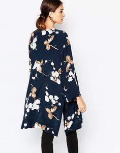 Image 2 ofGanni Crepe Kimono in Floral Print