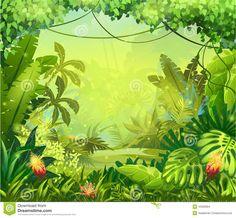 jungle cartoon vintage - Google zoeken