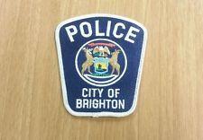 Brighton Michigan Police Shoulder Patch