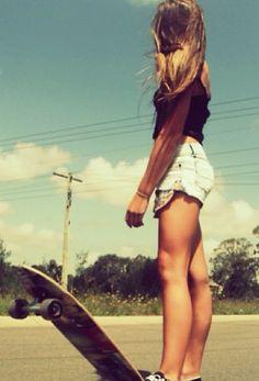 Skateboard shorts girl. summer. is. finally. coming.