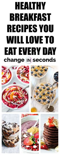 50 Clean Eating Breakfast Ideas That Will Inspire You To Eat Better - Healthy Breakfast Recipes You Will Love To Eat Every Day. 20 of the best breakfast recipes you can - Clean Eating Breakfast, Quick Healthy Breakfast, Healthy Breakfast Smoothies, Quick Healthy Meals, Best Breakfast Recipes, Low Carb Breakfast, Healthy Recipes, Diet Recipes, Clean Eating Recipes
